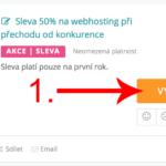 Jak uplatnit slevu na Český-hosting.cz