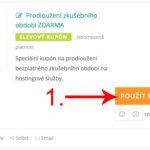 Jak aktivovat slevový kód na Onebit.cz