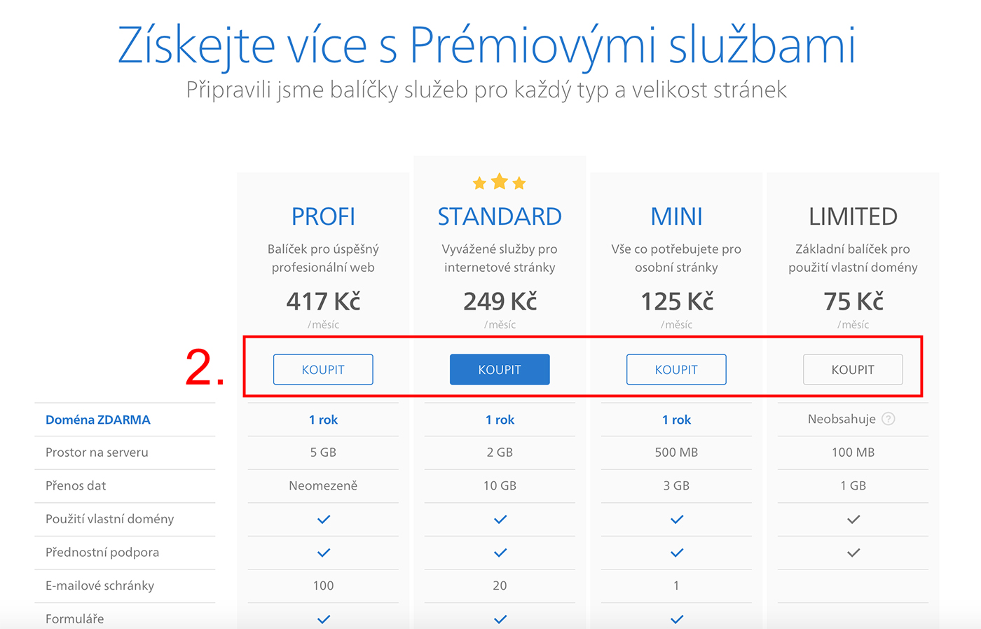 Jak uplatnit slevový kupón na prémiové služby Webnode.cz