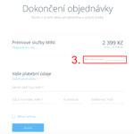 Jak aktivovat slevový kupón Webnode.cz