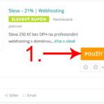 Jak aktivovat slevový kód na Webhosting-c4.cz