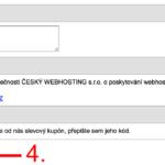 Jak použít promo kód na Webhosting-c4.cz