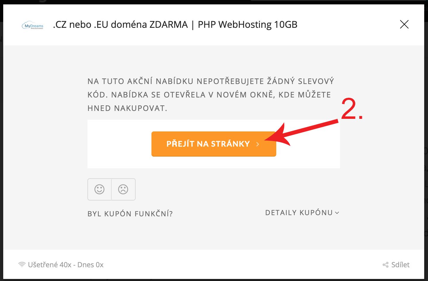 Jak použít slevu na MyDreams.cz
